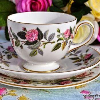 Wedgwood Hathaway Rose Teacup Trio with 15.5cm Tea Plate