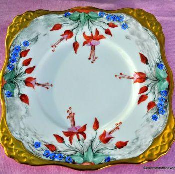 Royal Tuscan Fuscia Vintage Fine China Cake Plate