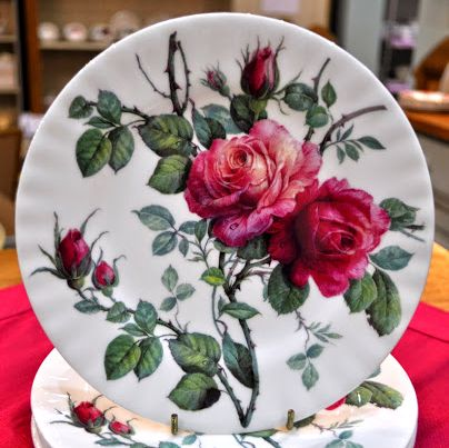 English Rose New Fine China 20cm Tea Plate