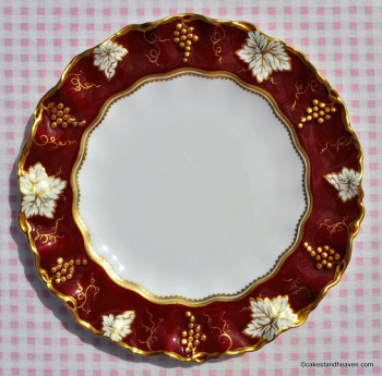 Royal Crown Derby Vine Plate Burgundy and Gold c.1940's