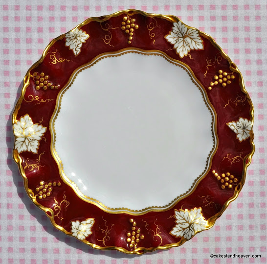 Royal Crown Derby Vine Burgundy And Gold 21cm Plate C 1940 S
