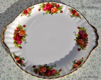 Royal Albert Old Country Roses Vintage China Cake Plate c.1962+