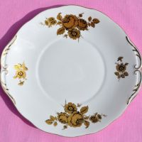 Royal Imperial Gold Floral Cake Plate c.1940's