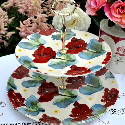 Poppy New Contemporary 2 Tier Cake Stand