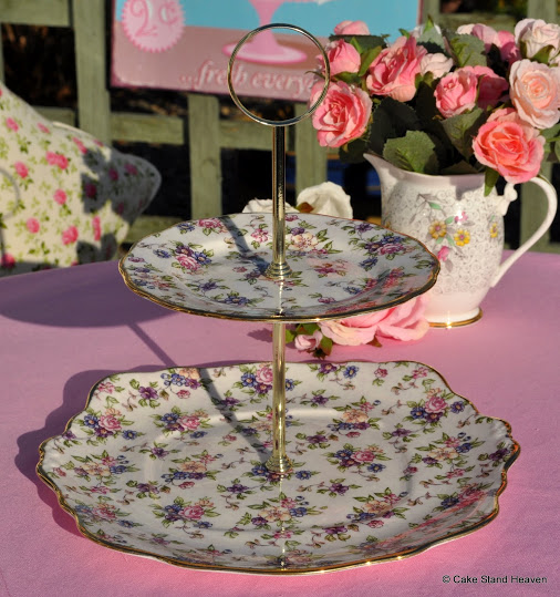 Royal Albert English Chintz 1940's Style 2 Tier Cake Stand