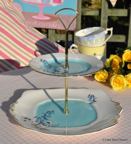 Royal Albert Festival 1950's Style 2 Tier Cake Stand
