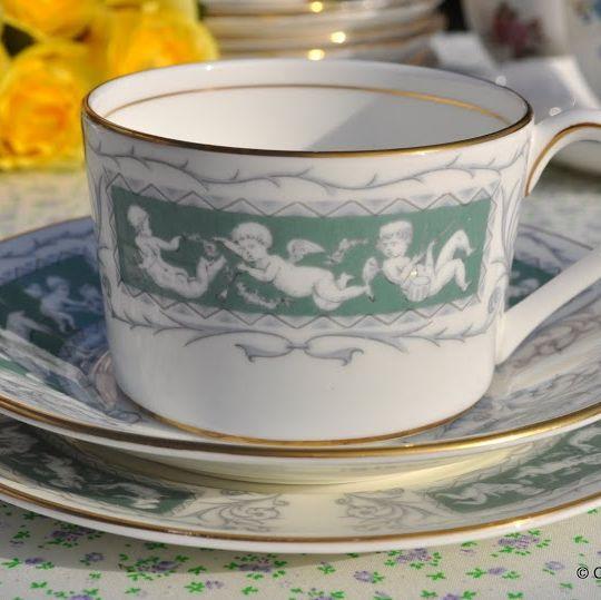 Coalport Revelry Adam Green Coffee Cup or Teacup Trio