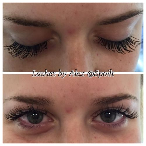 3D Full Set of Semi Perm Lash Extensions