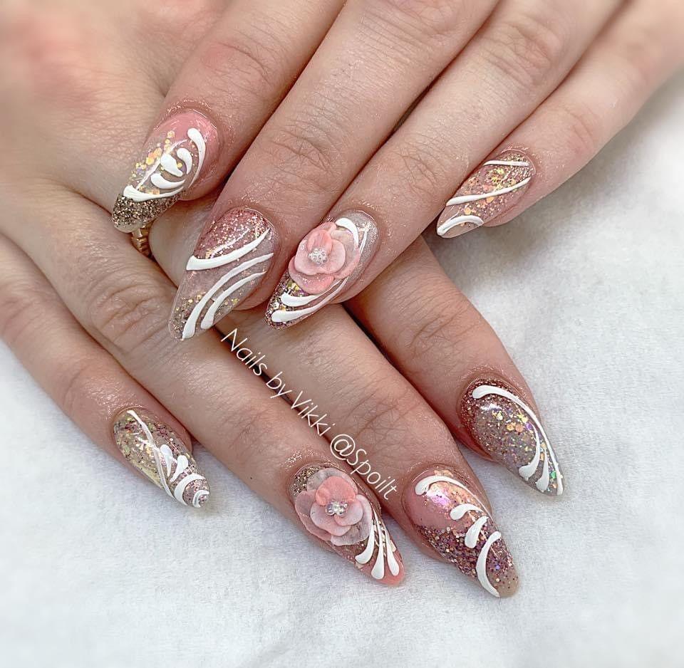 Glitter Acrylic Nail Enhancements