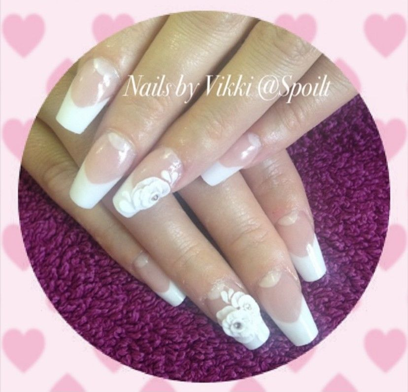 Pink & white  Acrylic Nail Enhancements