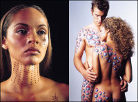 Airbrushed Body art small
