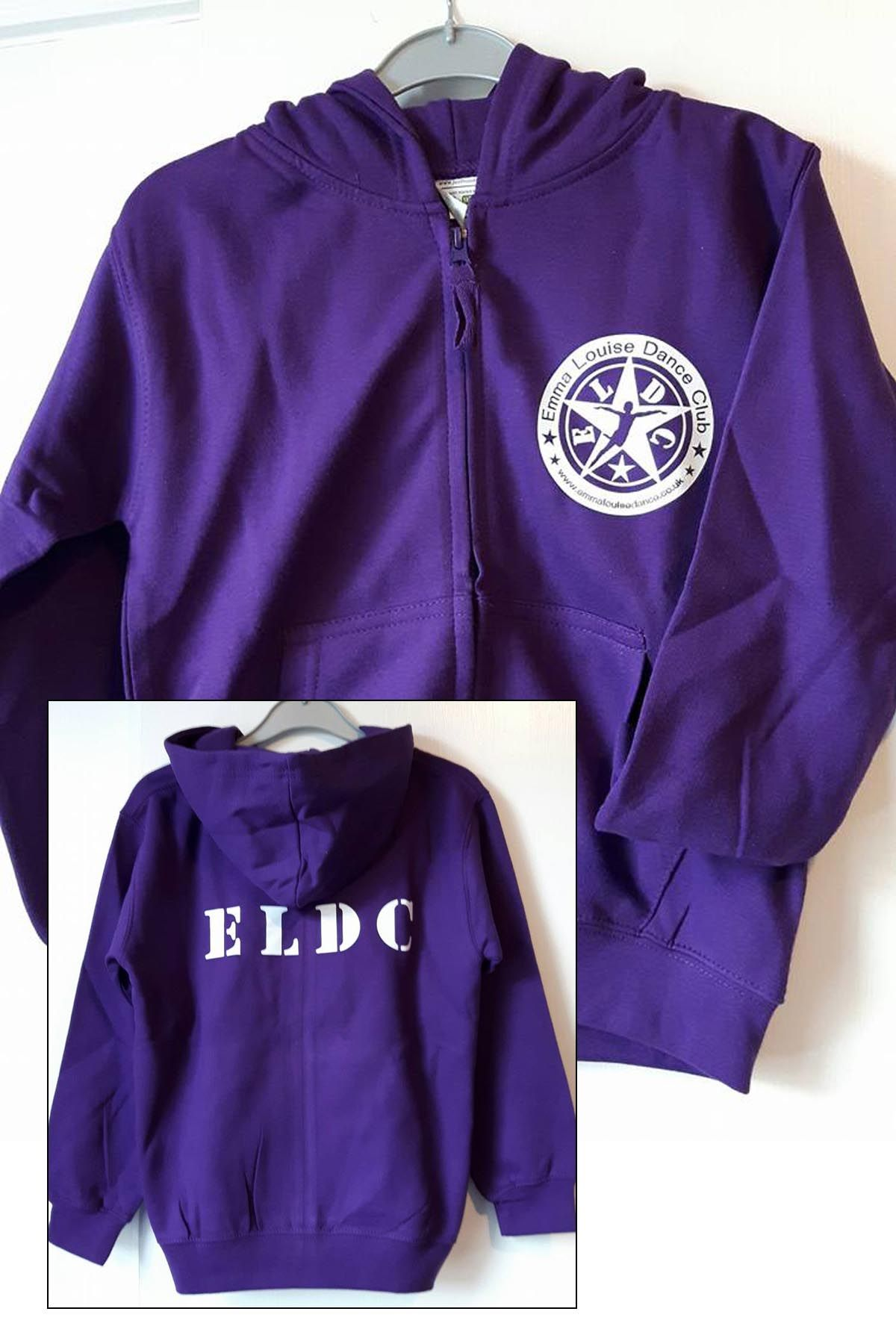 Uniform ELDC Purple Zip Hoodie