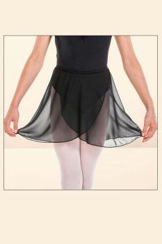 Black Wrapover Skirt