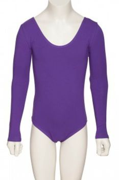 Purple Long Sleeve Leotard