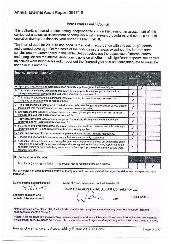 Internal Audit 2018 page 1