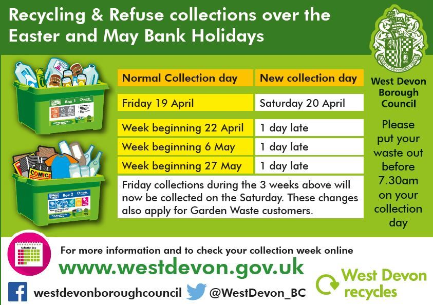 2019 Recycling & Refuse Collection - Easter and Spring Bank Holiday