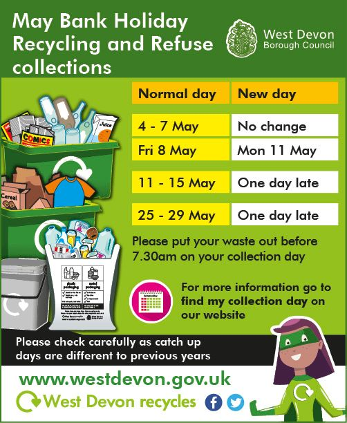 May Bank Holiday Recycling and Refuse Colletions