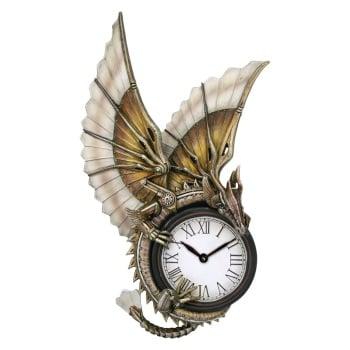 Clockwork Dragon Wall Clock By Anne Stokes