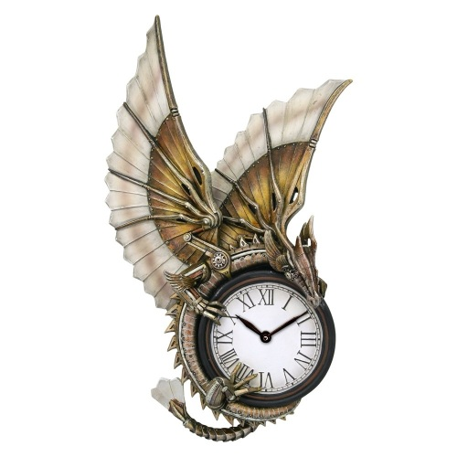 Clockwork Dragon By Anne Stokes Wall Clock
