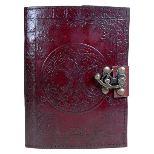 Tree Of Life Leather Journal With Lock