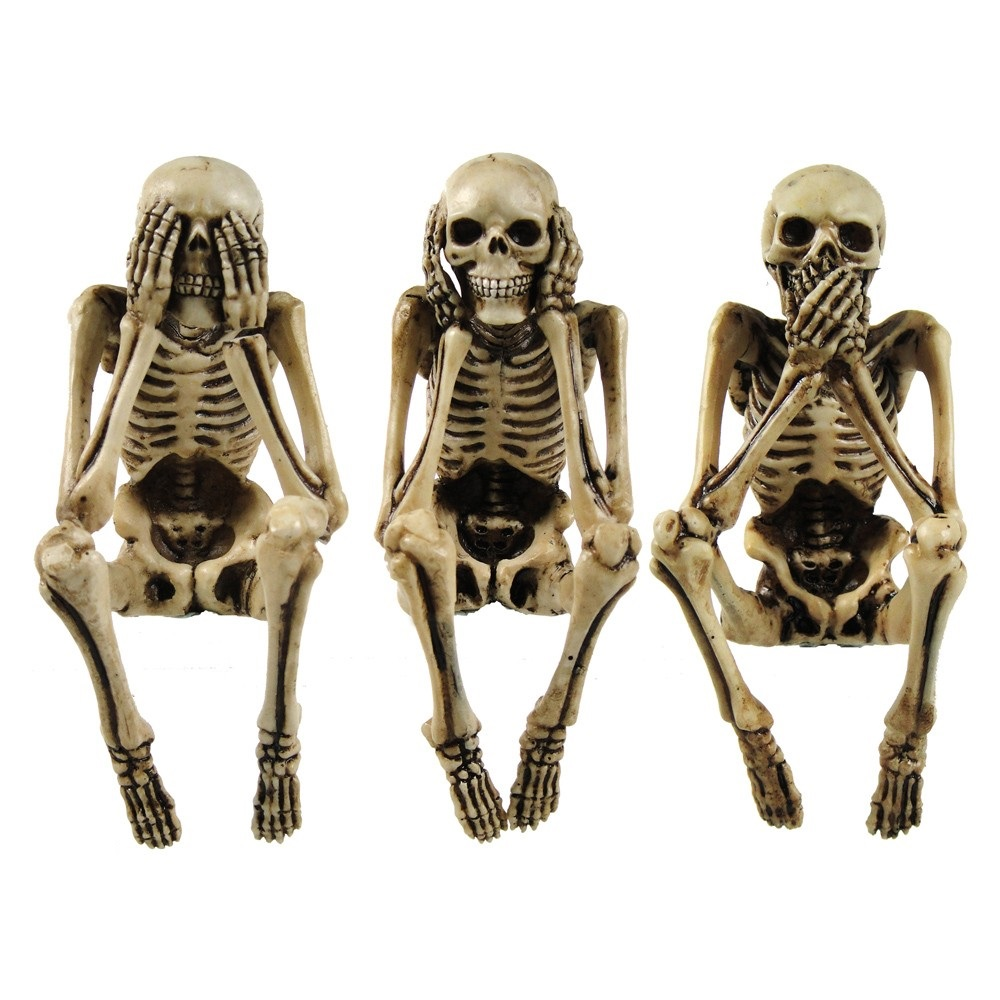 Three Wise Skeleton 10cm