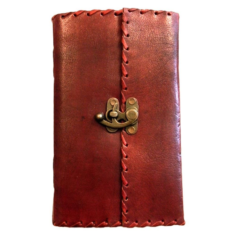 Leather Book of Shadows Journal with Lock