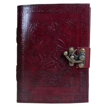 Pentagram Leather Journal with lock