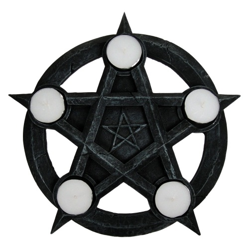 Pentagram Tealights 26cm