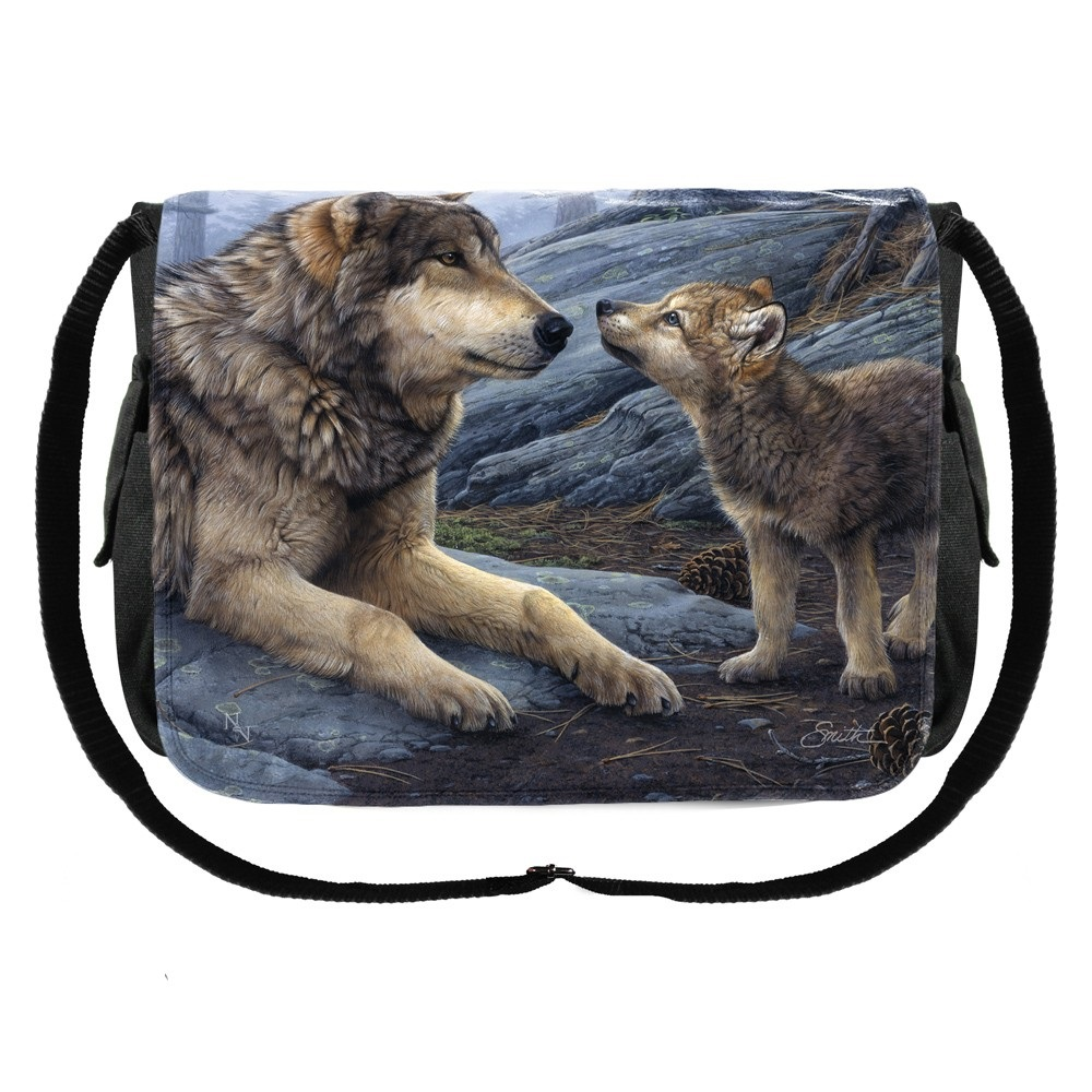 Brother Wolf Messenger Bag By Daniel Smith