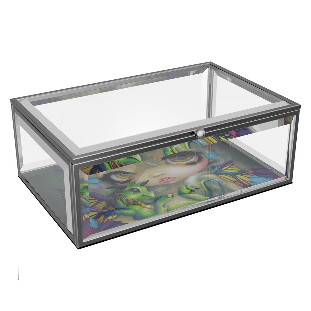 Darling Dragonling Glass Jewellery Box By Jasmine Becket-Griffith