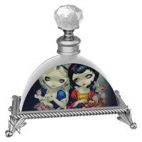 Alice & Snow White Glass Perfume Bottle By Jasmine Becket-Griffith