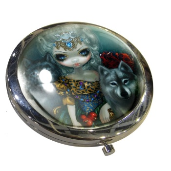 Loup Garou La Grand Pretresse Compact Mirror By Jasmine Becket-Griffith