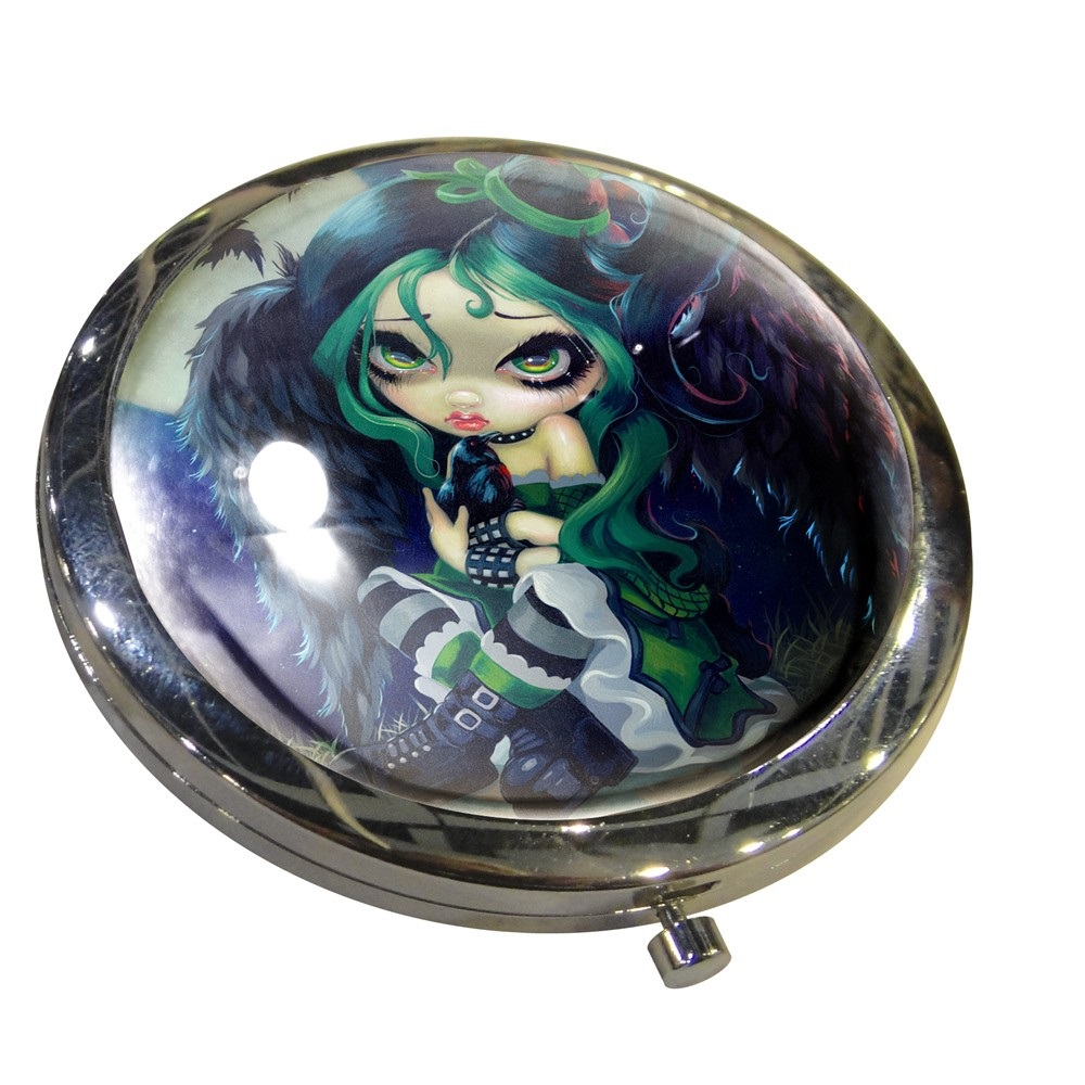 Perched & Sat & Nothing More Compact Mirror By Jasmine Becket-Griffith