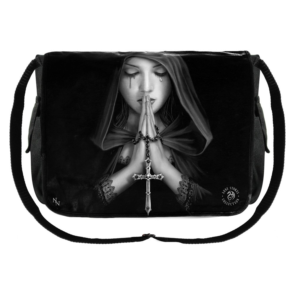 Gothic Prayer Messanger Bag By Anne Stokes