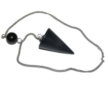Black Obsidian Cone Pendulum