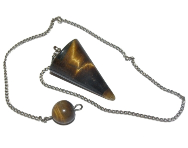 Golden Tigers Eye Cone Dowsing Pendulum