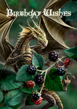 Blackberry Dragon By Anne Stokes