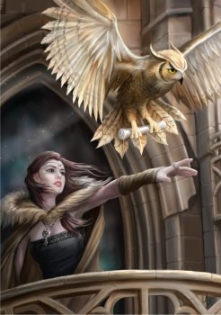 Owl Messenger By Anne Stokes