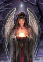 Yuletide Angel By Anne Stokes