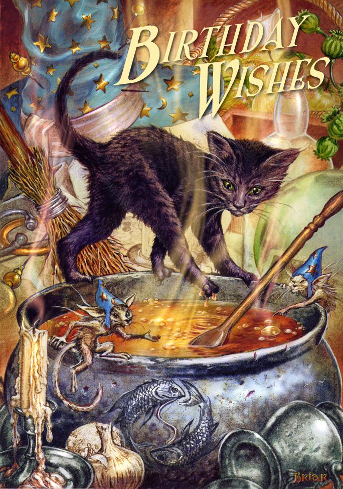 Cauldron capers birthday card by briar the mystical gift shop cauldron capers by briar m4hsunfo