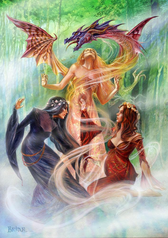 Tripple Goddess Summoning The earth