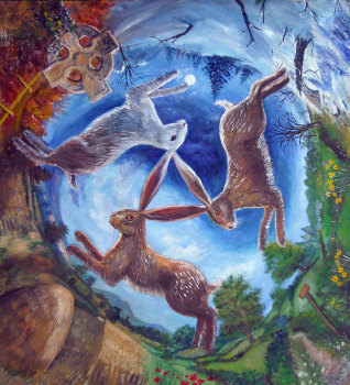 Three Hares By Gordon Napier