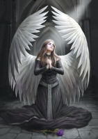 Prayer For The Fallen Greeting Card By Anne Stokes