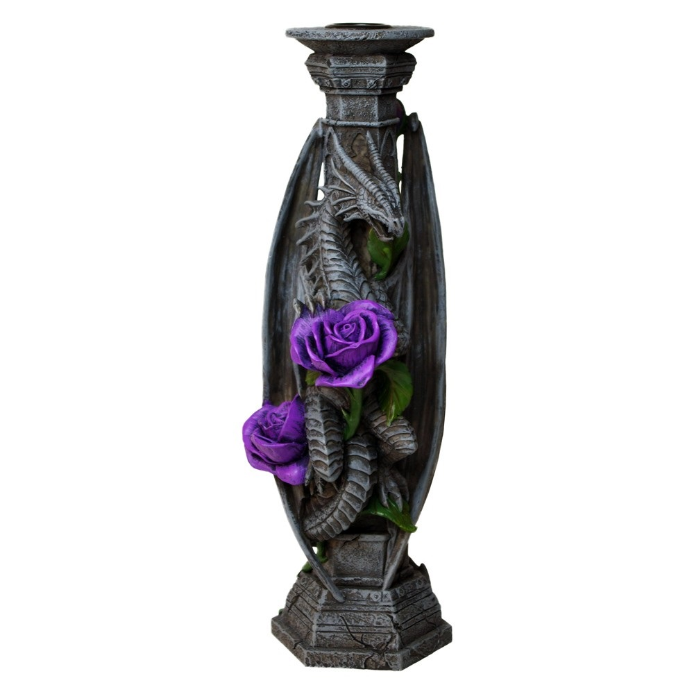 Dragon Beauty Candle Stick By Anne Stokes