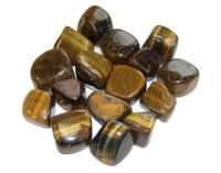 Golden Tigers Eye Tumblestone Crystal & Information Card Set