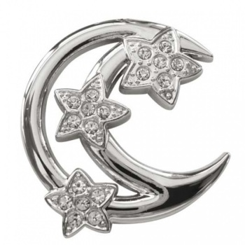 Crescent Moon & Stars Diamante Keyring Bag Charm - Witches of Pendle