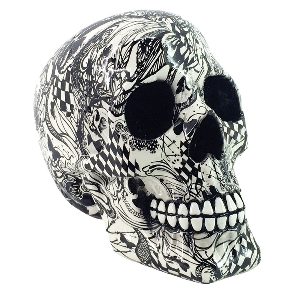 Abstraction Skull Figurine