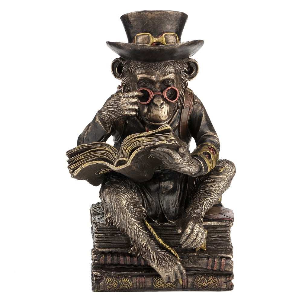 Chimpanzee Scholar - Steampunk Figurine