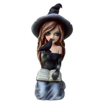 Regan - Witch & Crow Figurine