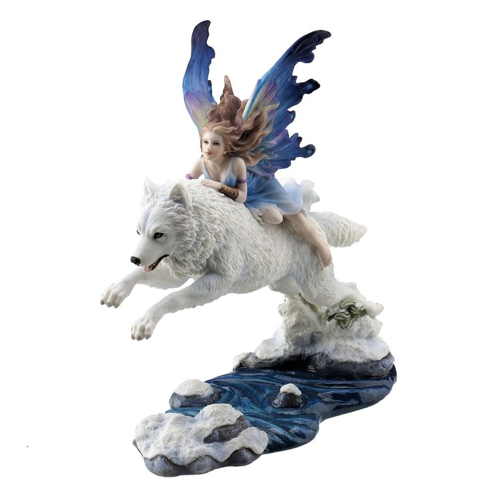 Free Spirit - Fairy & Wolf - Figurine